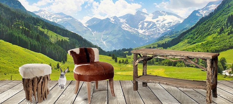 meuble style montagne bois recycl grenier alpin. Black Bedroom Furniture Sets. Home Design Ideas