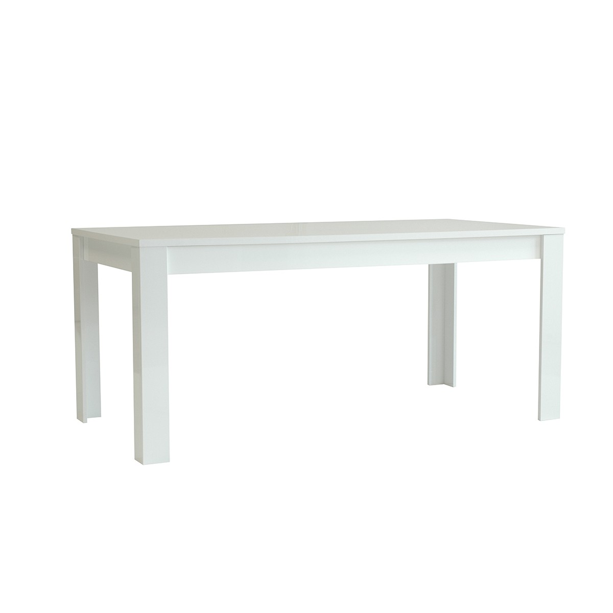 Table laquee blanche rectangulaire 180 cm mooviin for Table laquee blanche