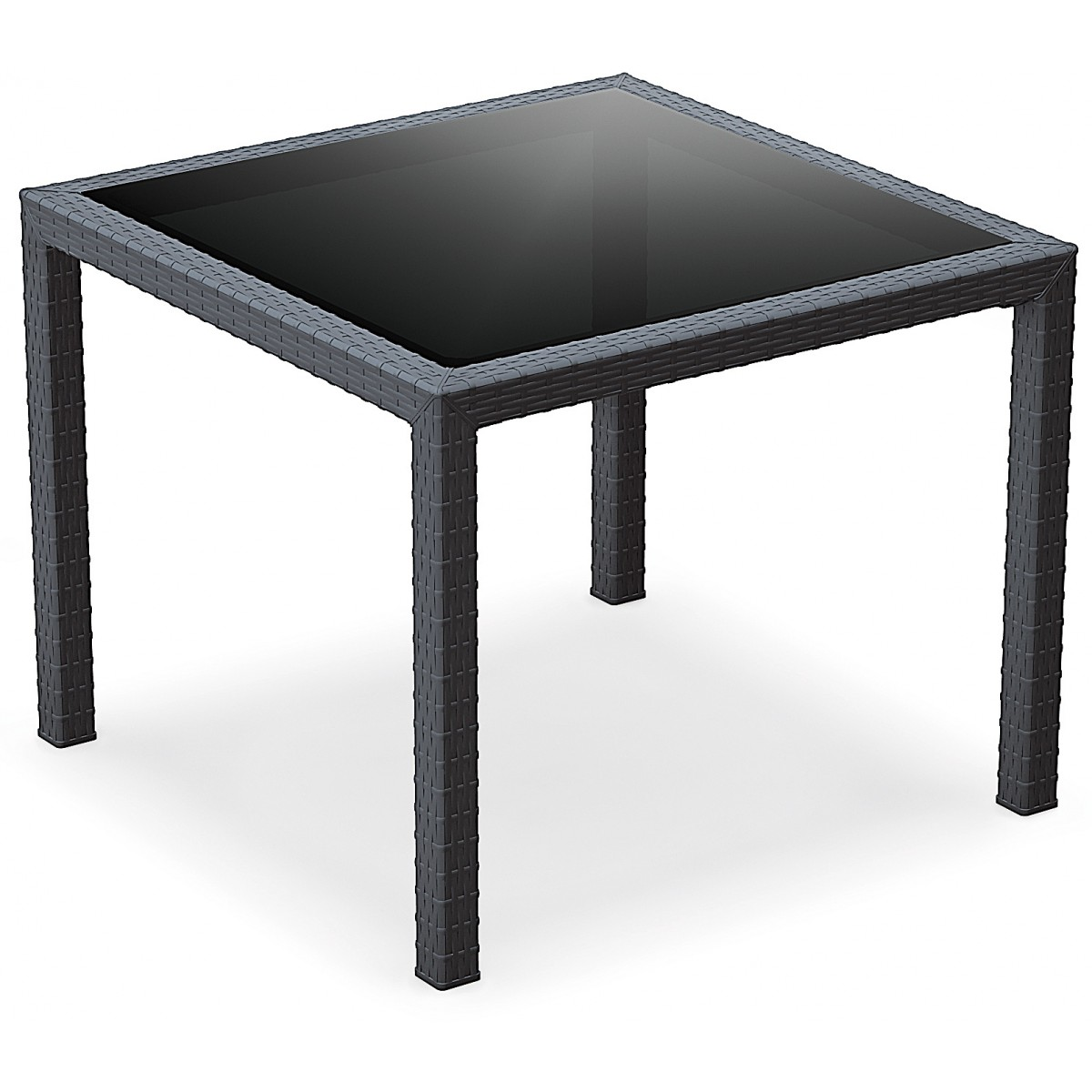 Table carree verre - Table carree en verre ...