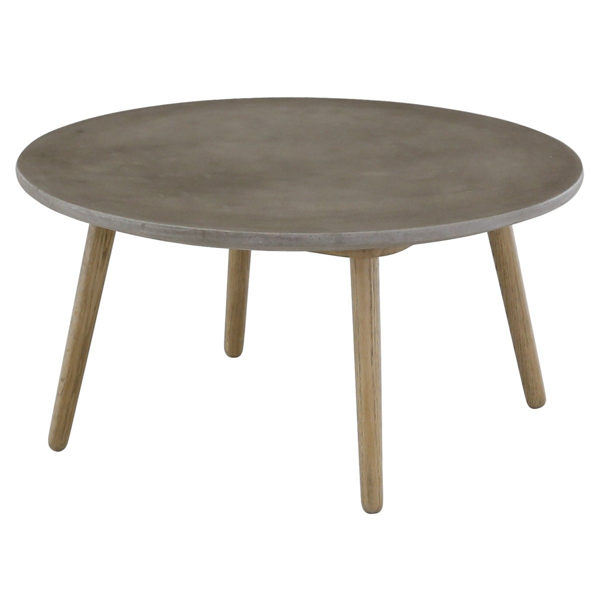 Table basse ronde style contemporain b ton et ch ne bird mooviin - Table basse ronde chene ...