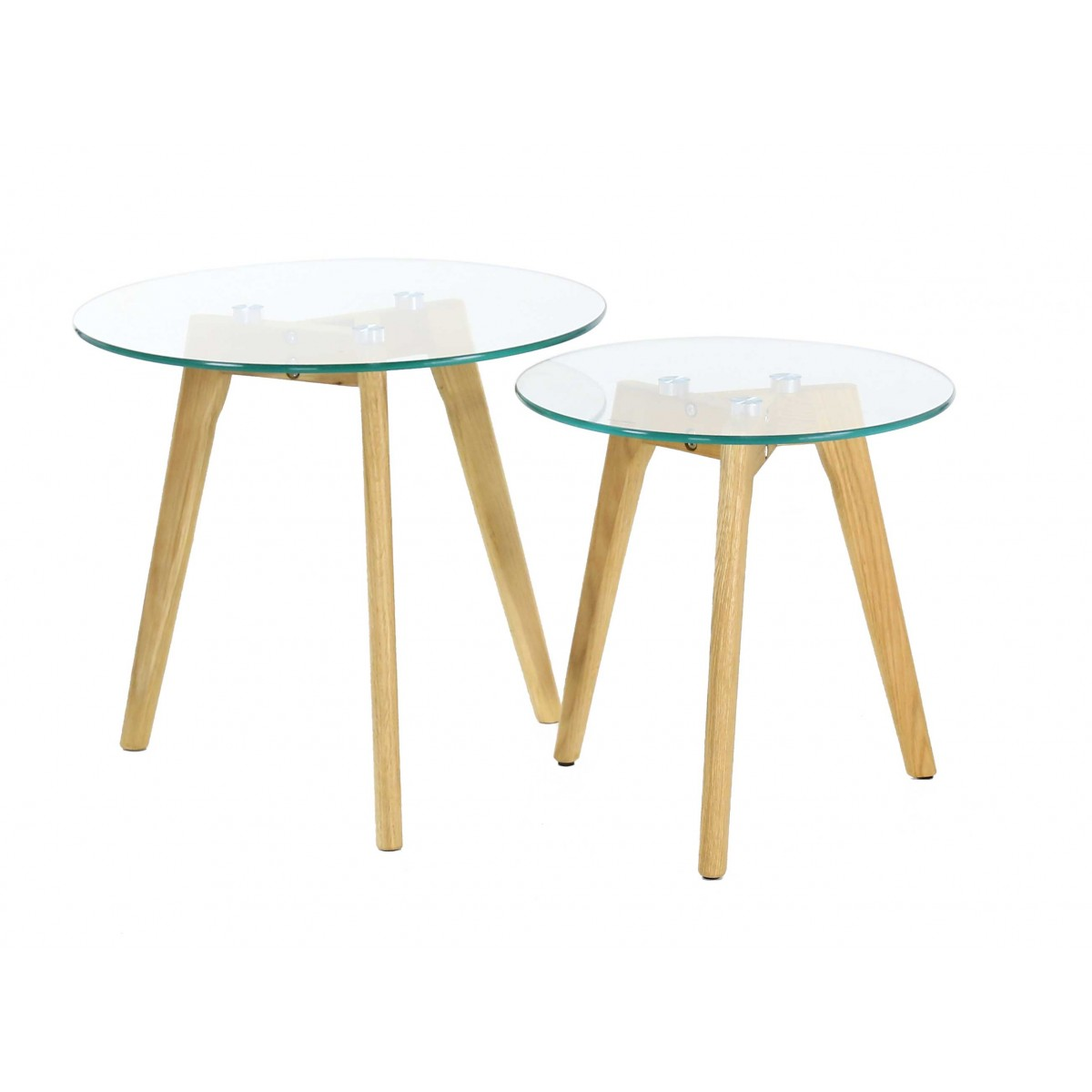 Table basse gigogne en verre design scandie mooviin - Table basse gigogne verre ...