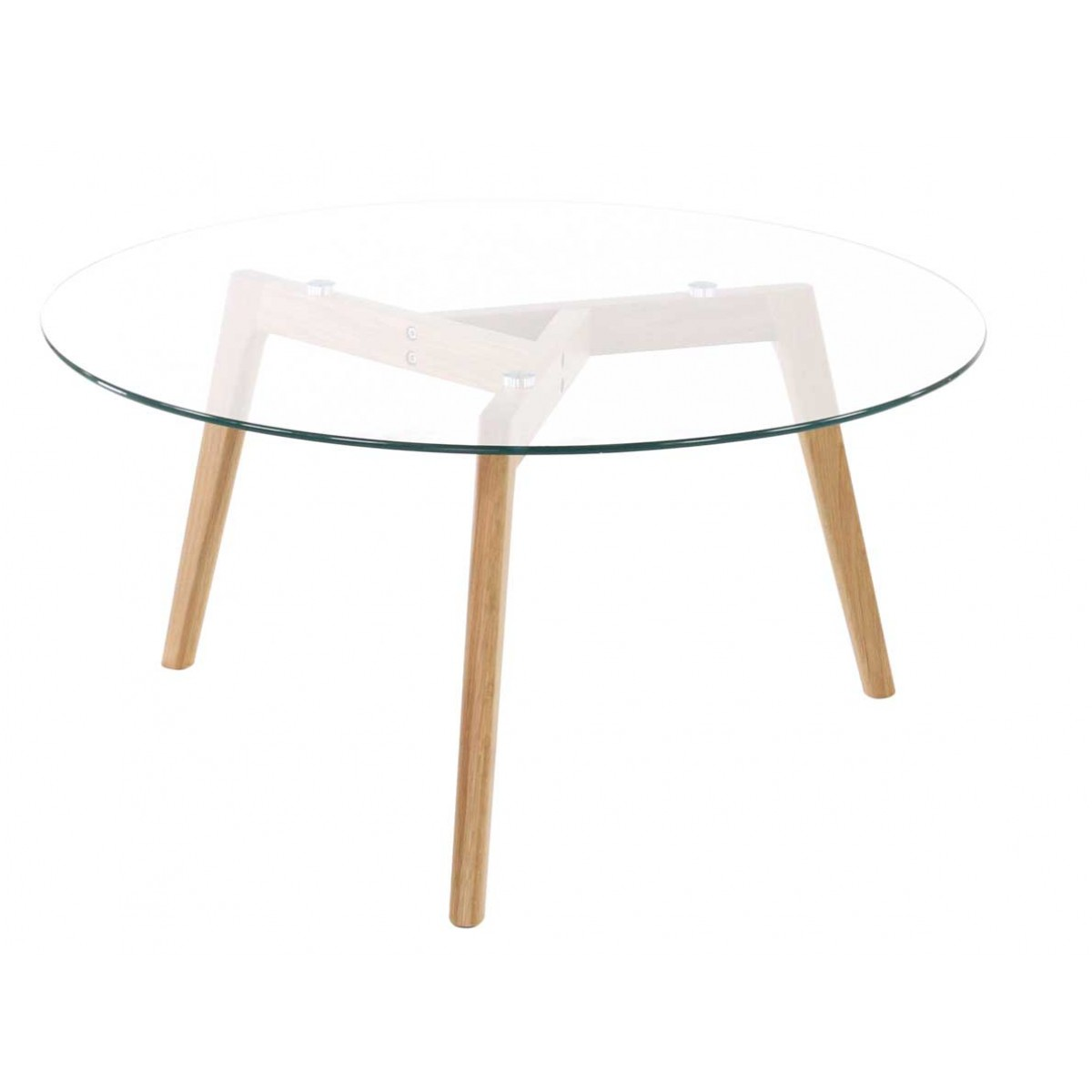 Table basse en verre ronde design scandie mooviin for Table un pied