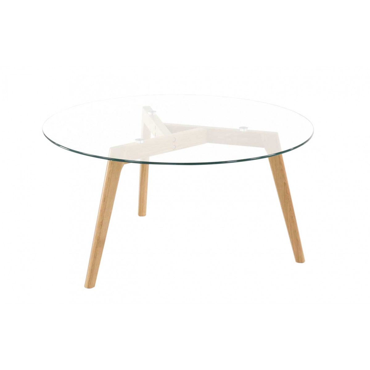 Table basse en verre ronde design scandie mooviin - Fly table basse ronde ...