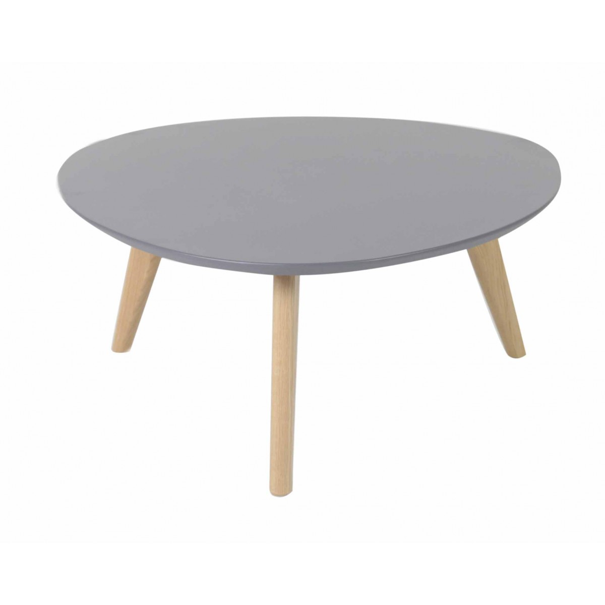 Table basse ch ne et laqu gris d90 cm scandie mooviin for Table basse gris laque
