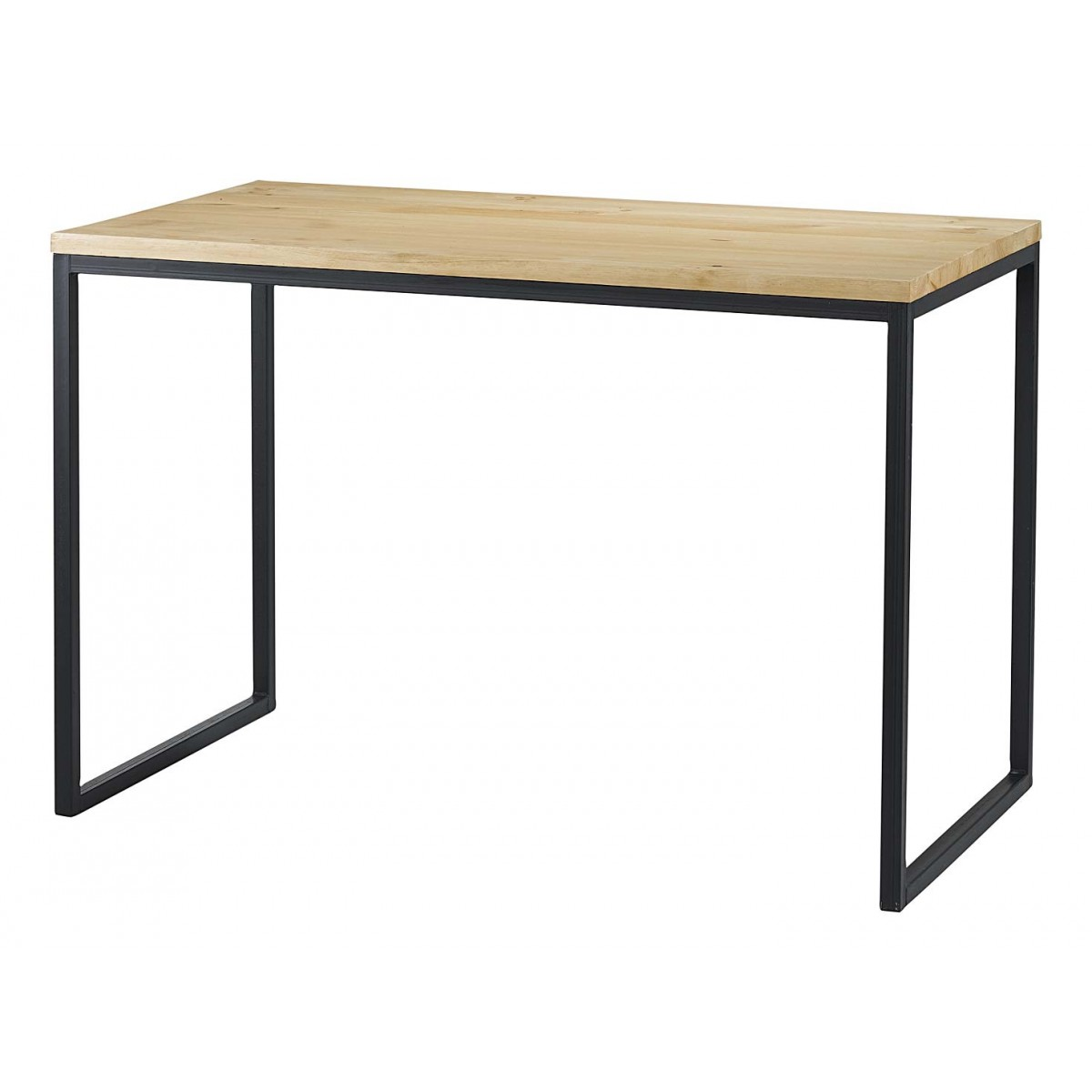 Table bureau bois et m tal 110 cm city mooviin for Table bois metal design