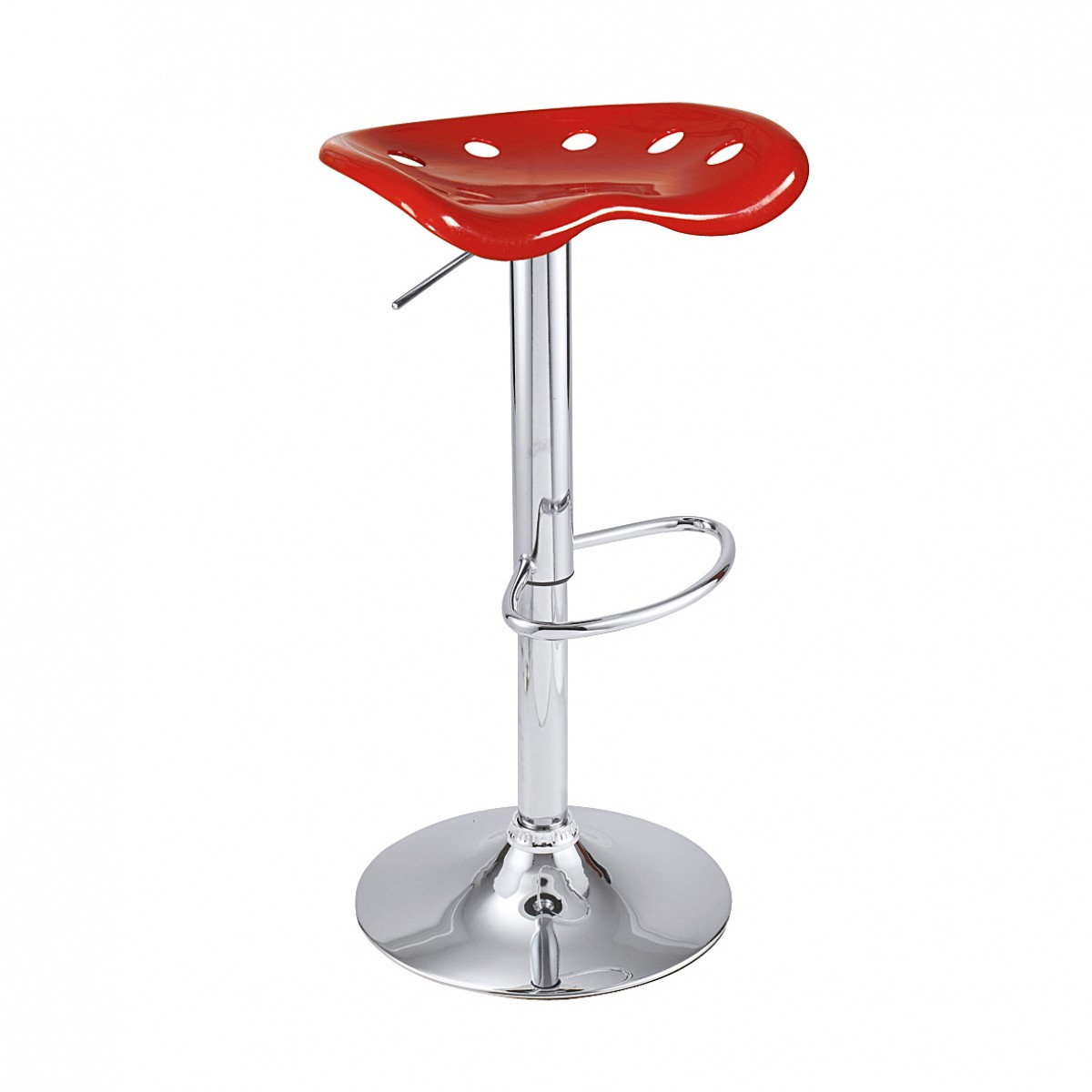 Tabouret de bar claudia rouge lot de 2 mooviin for Tabouret bar couleur