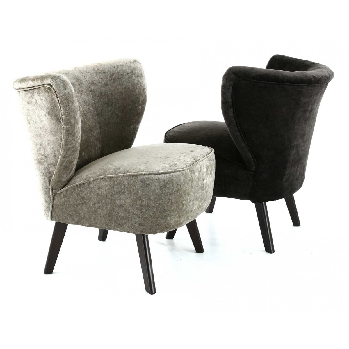 fauteuil scandinave velours gris anthracite louis gabriel. Black Bedroom Furniture Sets. Home Design Ideas