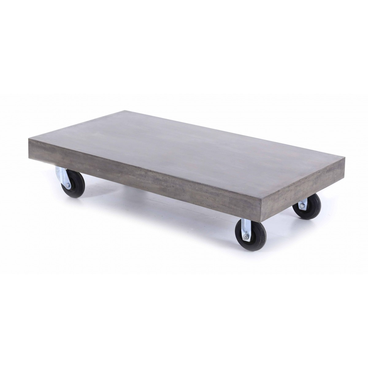Table basse design b ton roulettes mooviin - Table basse avec roulette ...