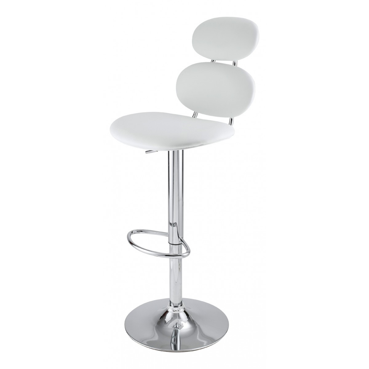 tabouret de bar blanc gabrielle mooviin. Black Bedroom Furniture Sets. Home Design Ideas