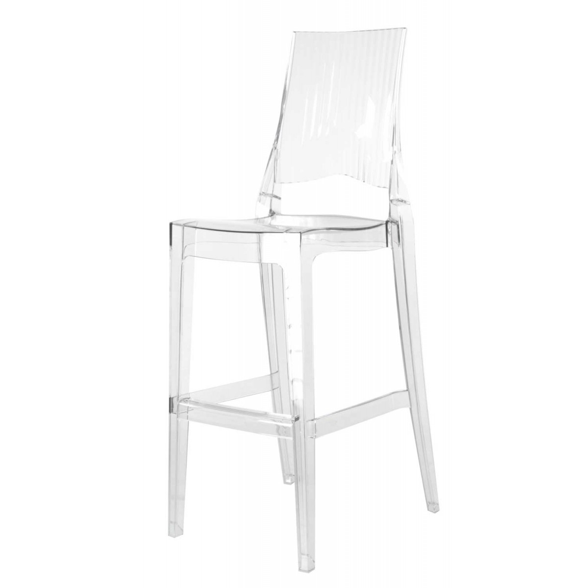 2 x tabouret de bar transparent polycarbonate glenda mooviin - Tabourets de bar transparents ...