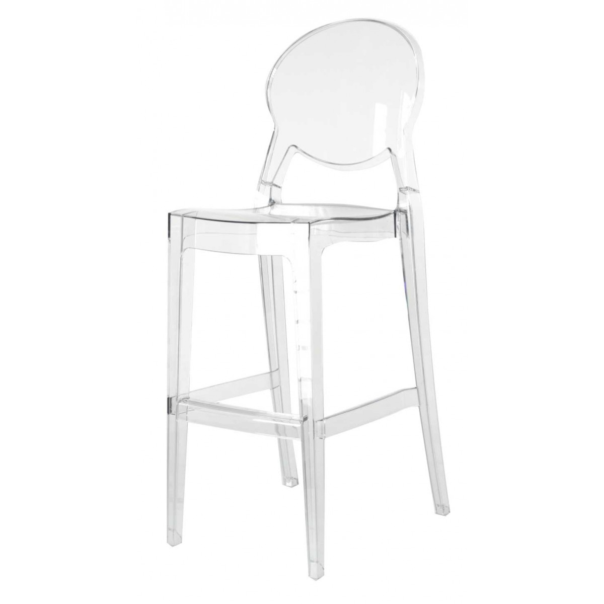 2 x tabouret de bar transparent polycarbonate igloo - Tabouret de bar polycarbonate ...