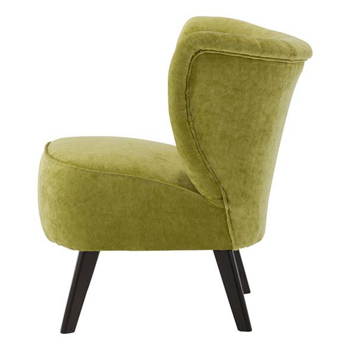 fauteuil scandinave velours vert anis louis gabriel mooviin. Black Bedroom Furniture Sets. Home Design Ideas