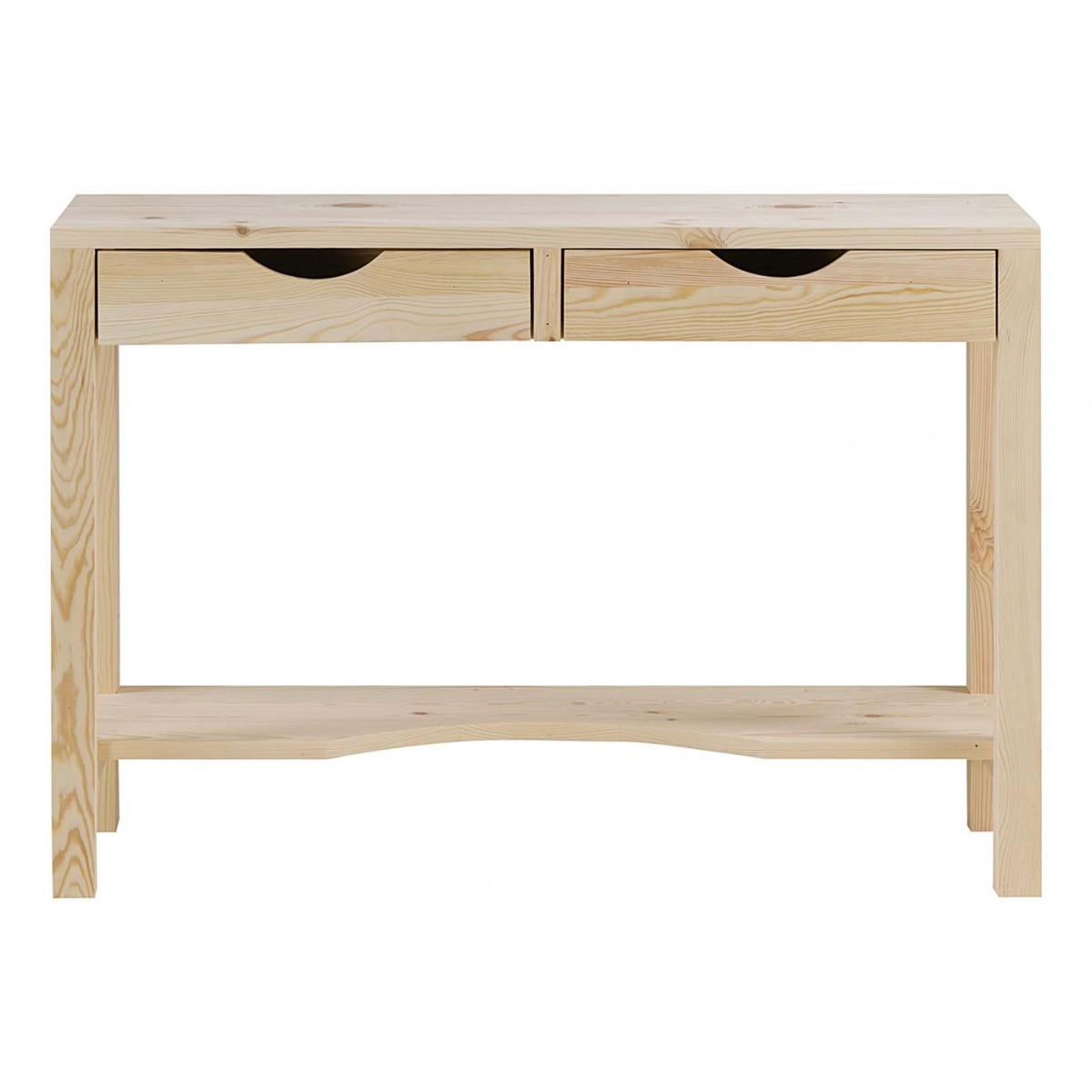 console bureau pin massif brut lune mooviin. Black Bedroom Furniture Sets. Home Design Ideas