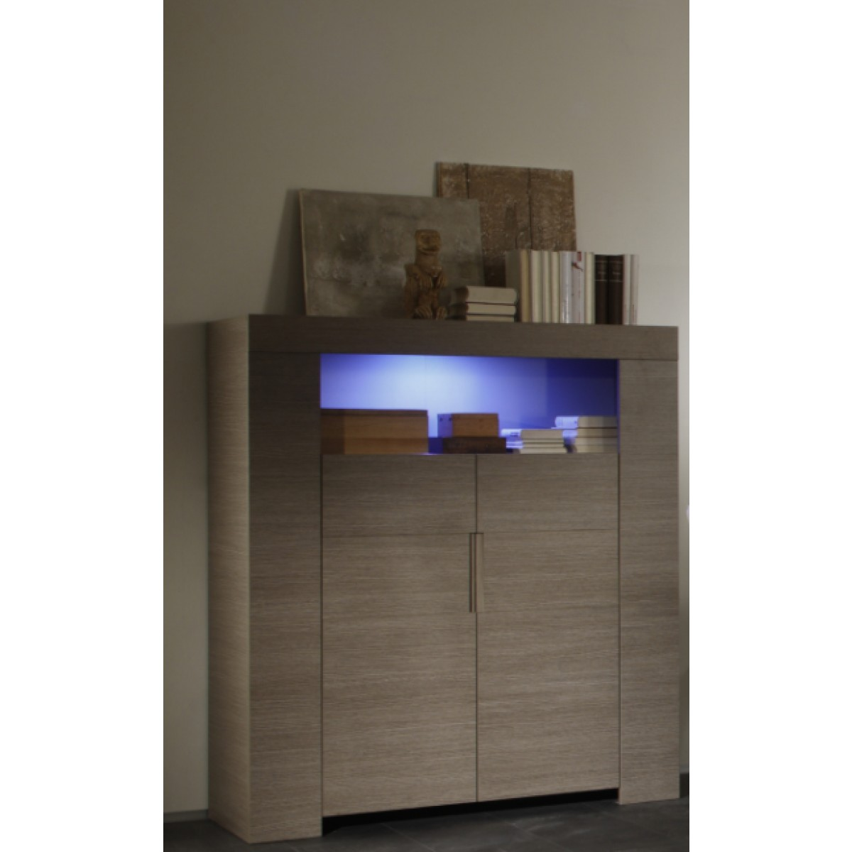 salle manger finition ch ne gris buffet 4 portes. Black Bedroom Furniture Sets. Home Design Ideas
