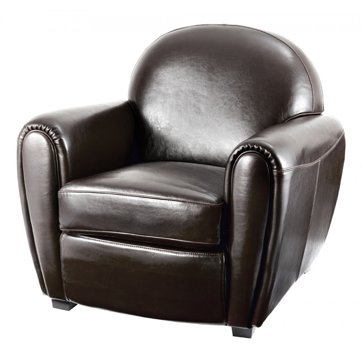 fauteuil club vintage cro te de cuir marron mooviin. Black Bedroom Furniture Sets. Home Design Ideas