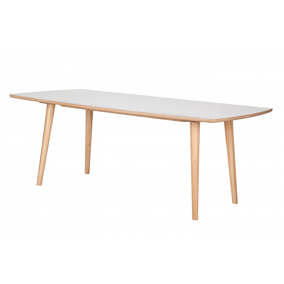 Table en ch ne et plateau en formica style contemporain for Table rectangulaire scandinave