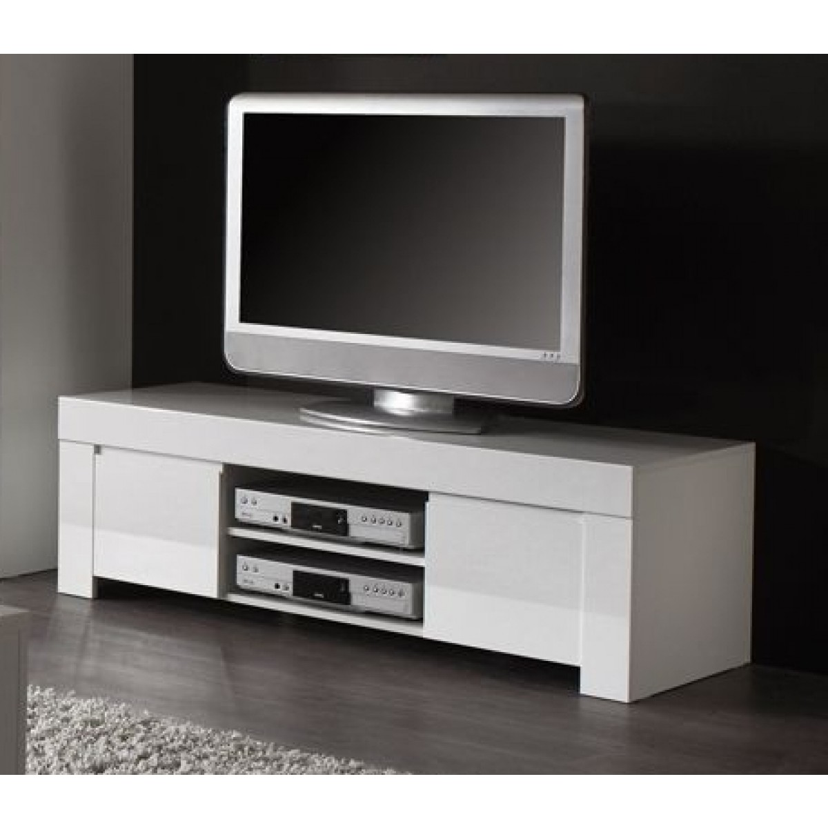 meuble tv alinea blanc laque sammlung von design zeichnungen als inspirierendes. Black Bedroom Furniture Sets. Home Design Ideas