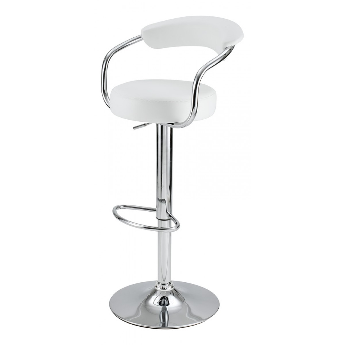 tabouret de bar avec accoudoirs blanc lot de 2. Black Bedroom Furniture Sets. Home Design Ideas