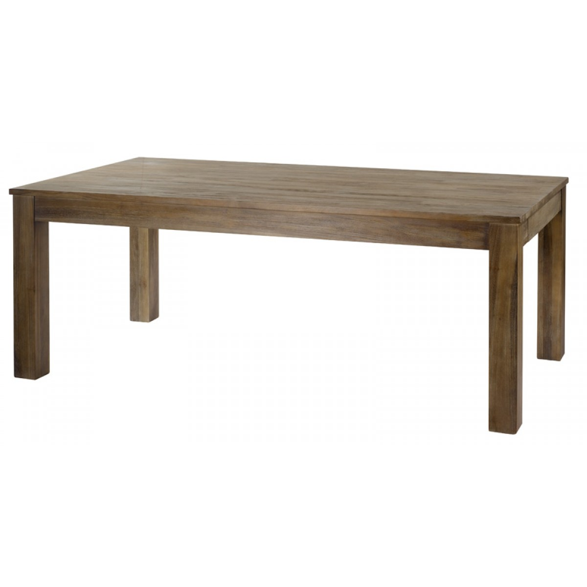 Table basse cosmos teck grise for Table basse 85 cm
