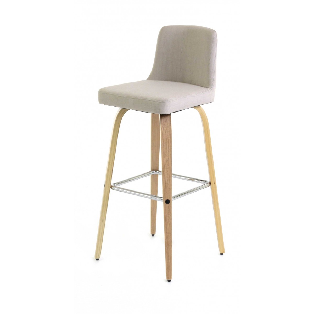 tabouret de bar beige en tissu style scandinave zago store. Black Bedroom Furniture Sets. Home Design Ideas