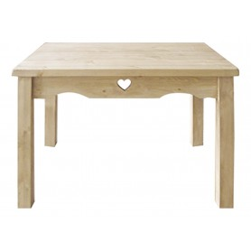 Table repas Jim pin massif brut 120 x 80 cm Farmer
