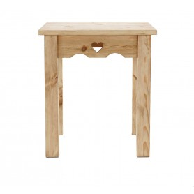 Table repas Jim pin massif brut 70 x 70 cm Farmer